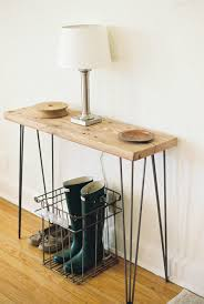 West Elm Console Table by Urban Design Living Room With Reclaimed Console Table And