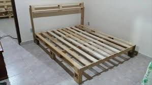 Pallet Bed Frame Plans How To Make A Pallet Bed Frame Ideas With Pallets