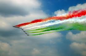 Flag Of Inida Flying Color From Sky Spreading Color Pinterest