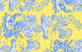 chinoiserie wrapping paper chinoiserie toile provence border retreat on citron presse