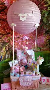 balloons and gifts delivered baby shower hot air balloon gift basket diy decoración fiestas