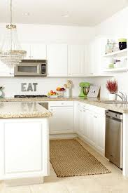 White Cabinets Granite Countertops by White Kitchen Cabinets With Granite Countertops Transitional