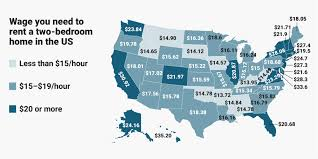 mapping the affordable housing deficit for each state in how much do you need to earn to rent an apartment in the us