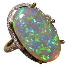 large black rings images Opal gold ring with diamonds opal engagement rings flashopal jpg