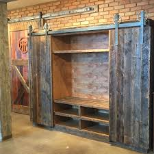 Reclaimed Wood Barn Doors by Bob U0027s Entertainment Center Crafted With Reclaimed Barn Wood