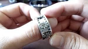 mens spinner rings kinect gear ring
