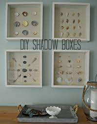 diy shadow box and shell art seashell shadow boxes pinterest