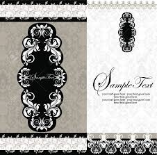 Black And White Invitation Card Black And White Damask Wedding Invitations Royalty Free Cliparts