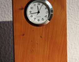 Wood Desk Clock Wooden Desk Clock Etsy