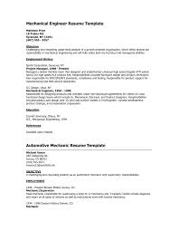 Resume Format For Mechanical Cover Letter Mechanical Engineering Resume Format Mechanical