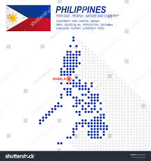 Philippine Map Dot Style Philippine Map Flag On Stock Vector 474709444 Shutterstock