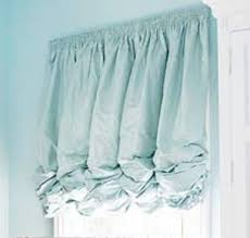 How To Make Balloon Shade Curtains Gathered Balloon Shade In A Beautiful Blue Creates A Tranquil Soft