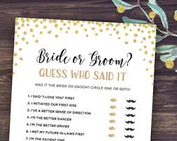 who said it bridal shower he said she said etsy