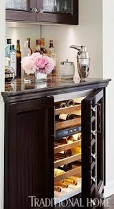 Wine Cabinet Furniture Refrigerator Wine Bar With Refrigerator Siena Mezzo Wine Credenza Walnut With