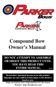 parker bows compound bow owner u0027s manual