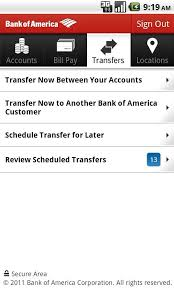 bank of america app for android tablets bank of america for android free and software reviews