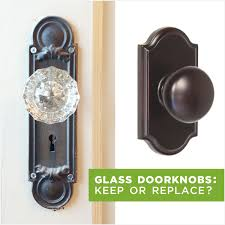 Replace Interior Door Knob Glass Doorknobs Keep Or Replace Rather Square