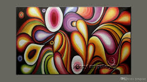 2017 100 handmade huge modern wall art rainbow colorful abstract