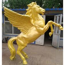 statue with bronze sculpture