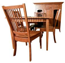 Shaker Dining Room Chairs Small Shaker Leg Dining Room Set Amish Furniture Gallery