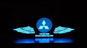 mitsubishi cars logo mitsubishi car stickers sound active equalizer glow led light
