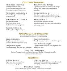 blue martini menu jim thompson menu menu for jim thompson tanglin singapore