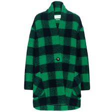 plaids en laine isabel marant étoile manteau en laine à motif tartan gabrie
