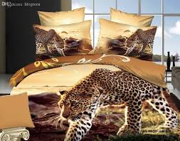 wholesale cheetah leopard printed 3d 100 cotton wedding four