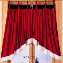 Solid Color Valances For Windows Popular Christmas Window Valances Buy Cheap Christmas Window