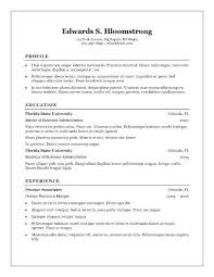resume format free in ms word resume formats free foodcity me