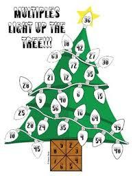 christmas tree light game multiples light up the tree by math mojo teachers pay teachers