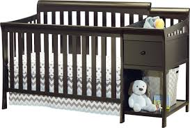 Cribs With Attached Changing Table by Sorelle Florence 4 In 1 Convertible Crib And Changer Combo