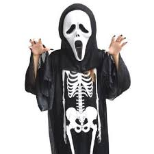 Boys Skeleton Halloween Costume Mask Glove Picture Detailed Picture Halloween Costume