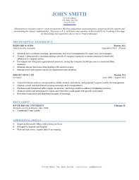 Mba Resume Templates Interesting Format Of A Resume 5 Resume Formats Resume Example