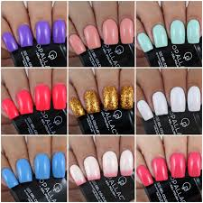 opallac gel polish mixed swatches u0026 review by olivia jade nails