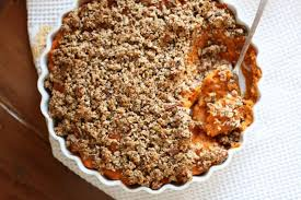 sweet potato casserole with crunchy pecan crumble vegukate