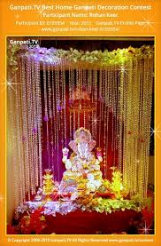 Home Ganpati Decoration Image Result For Ganpati Decoration Ideas For Home With Lights