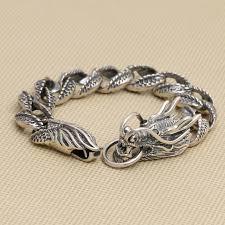 dragon bracelet silver images Handcrafted thailand 925 silver dragon bracelet vintage sterling jpg