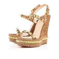 christian louboutin cataclou cork gold louboutin shoes outlet