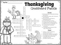 thanksgiving thanksgiving crossword puzzle thanksgiving and