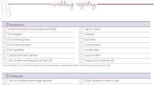 wedding registry list wedding gift list checklist lading for