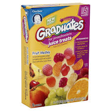 fruit treats gerber graduates juice treats for preschoolers fruit medley 6 oz