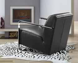 Modern Leather Lounge Chair Bison Modern Black Leather Lounge Chair