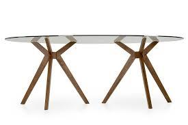 Modern Glass Dining Sets Modrest Skylar Modern Glass Oval Dining Table