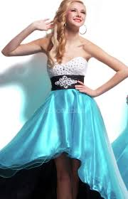 party dress cheap and sweetheart light sky blue rhinestone empire