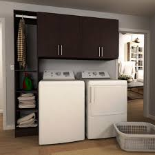 Laundry Room Cabinets by Modifi Horizon 75 In W Mocha Tower Storage Laundry Cabinet Kit