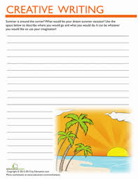 summer vacation writing prompt worksheet education com