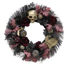 halloween door garland buy the 28 u201d large handcrafted jewel encrusted skull halloween