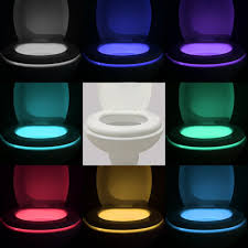 vintar 16 color motion sensor led toilet night light 5 stage