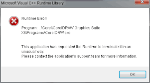 corel draw x5 runtime error run time error coreldraw graphics suite x6 coreldraw graphics